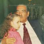ريهام سعيد مع والدها1 150x150 شاهد صور نادرة للاعلامية ريهام سعيد وهي طفلة صغيرة مع والدها واختها مقدمة برنامج صبايا الخير