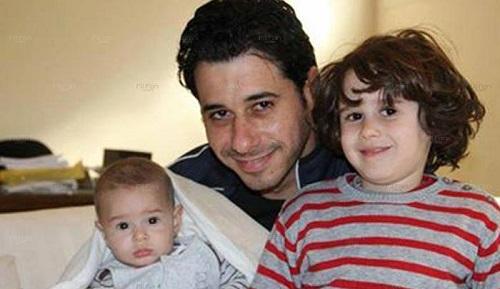 ahmed elsa3dany صور ابناء الفنان احمد السعدني عبد الله و عليا فى اول ظهور لهم
