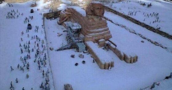 ابو الهول في الثلوج