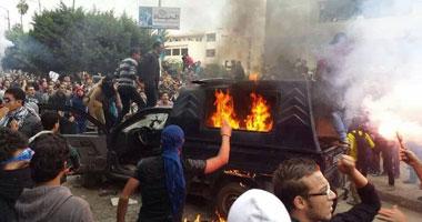 احراق سيارة شرطة