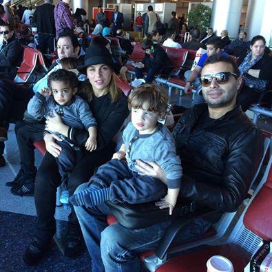 رامي صبري وزوجتة و ابناءه عمر وعلي