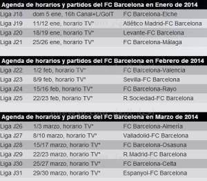 مباريات برشلونة 300x262 جدول مواعيد مباريات نادي برشلونة في الدوري الاسباني 2014