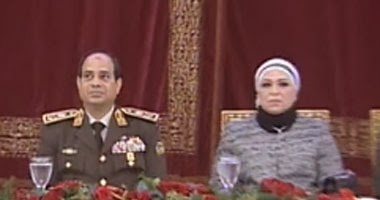 المشير السيسي و زوجته