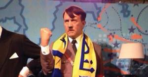 هتلر نصراوي 300x157 صورة هتلر يرتدي وشاح النصر ويحتفل بفوز النصر بكأس ولي العهد السعودي علي الهلال 2014