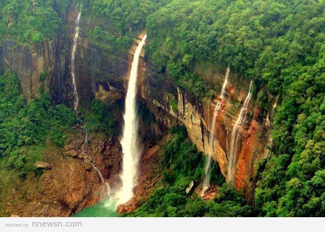 شلالات نوكاليكاي الهندية معلومات عن شلالات نوكاليكاي بالهند بالصور