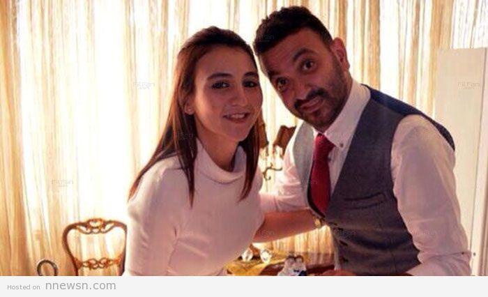 كريم محسن وزوجته هالة دعبس صورة كريم محسن مع زوجته هالة دعبس