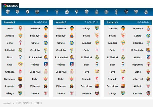 الدوري الاسباني موسم 2014-2014
