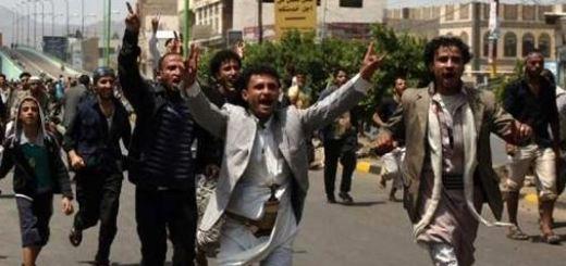 الحوثيين اعتصموا في ميدان التحرير بصنعاء عاصمة اليمن