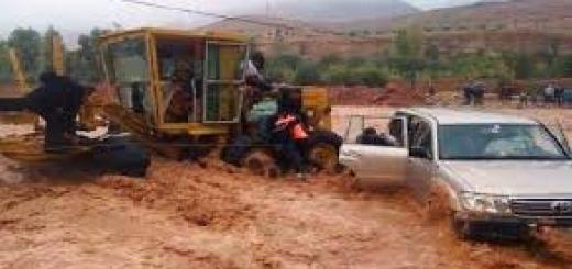 سيول و عواصف جنوب وشرق المغرب 2014