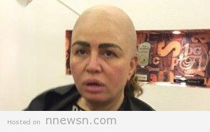 elham shahin fake hair cut 300x188 صور الهام شاهين بدون شعر قرعة زيرو في فيلم ريجاتا لتبدو كانها حلقت شعرها بالكامل لدور امرأة مصابة بالسرطان