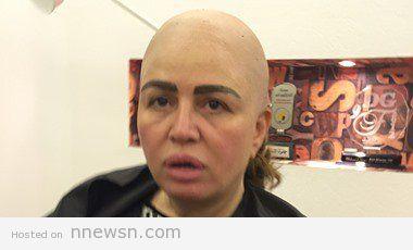 elham shahin fake hair cut