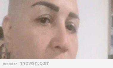 elham shahin no hair