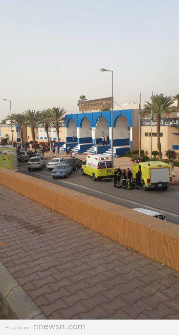 بوابة نادي الهلال بالصور حريق نادي الهلال السعودي