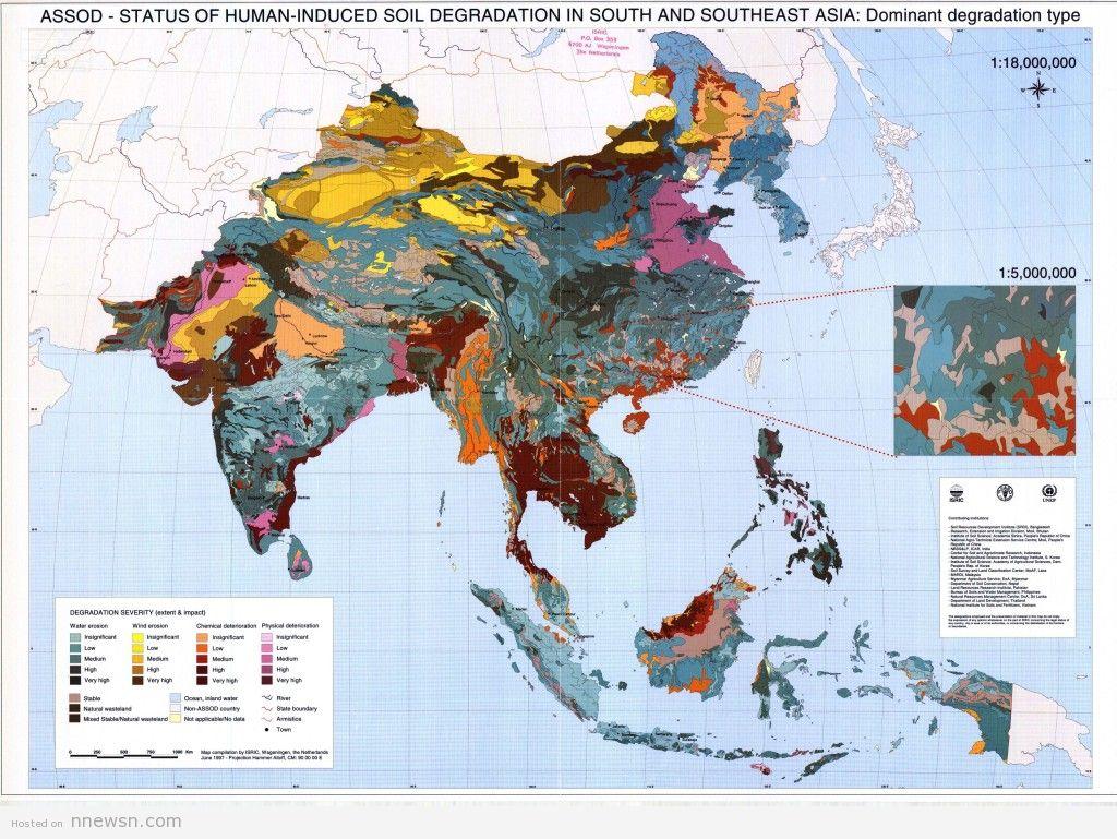 خريطة اسيا الجيوغرافية