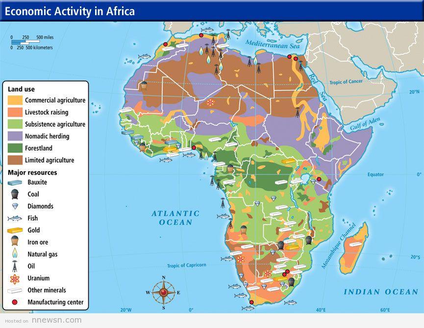 خريطة افريقيا الاقتصادية