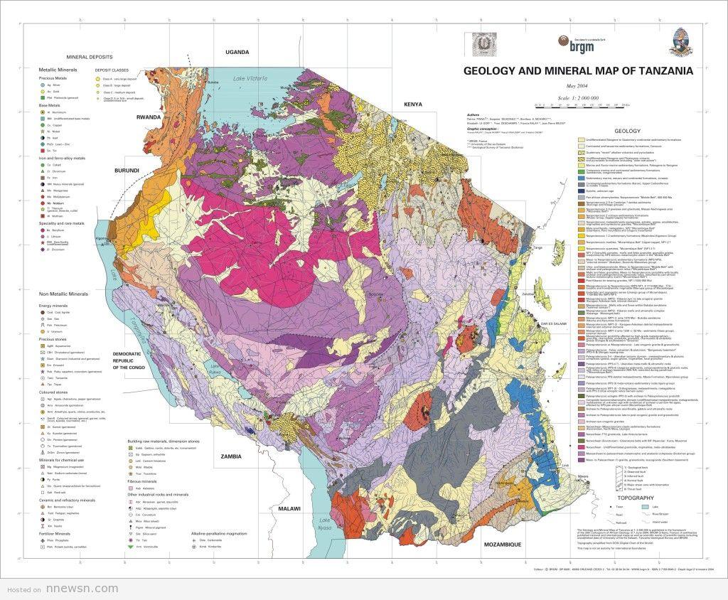خريطة الجزائر الجيولوجية