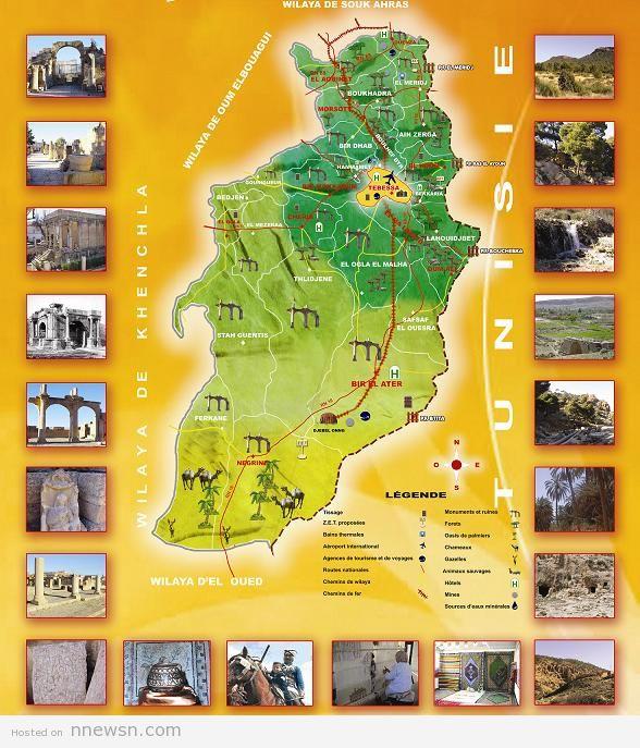 خريطة الجزائر السياحية