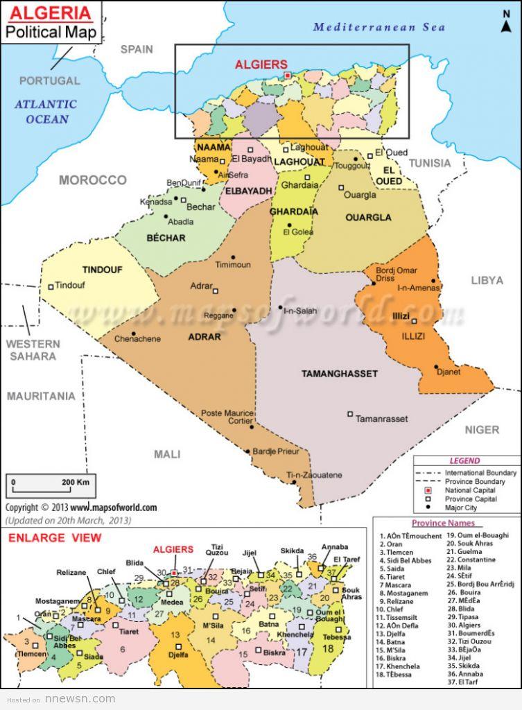 خريطة الجزائر السياسية