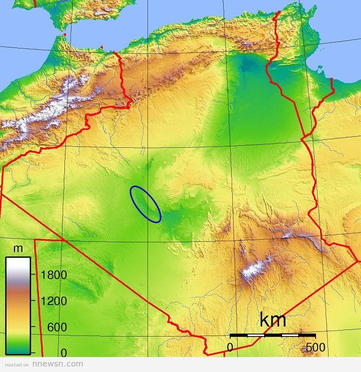 خريطة الجزائر الطبغرافية