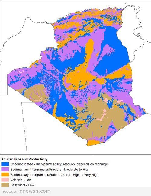 خريطة الجزائر الهيدروليجية
