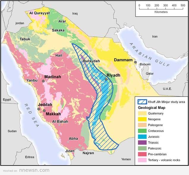 خريطة السعودية الهيدروليجية