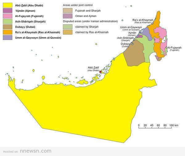 خريطة السكان بالامارات