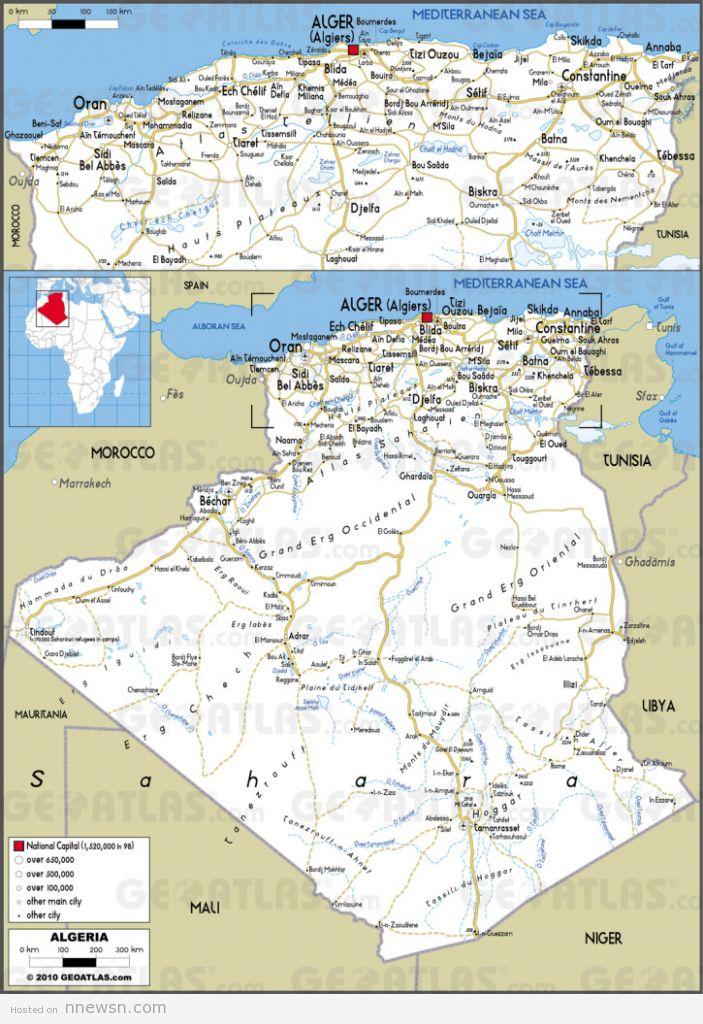 خريطة الطرق بالجزائر