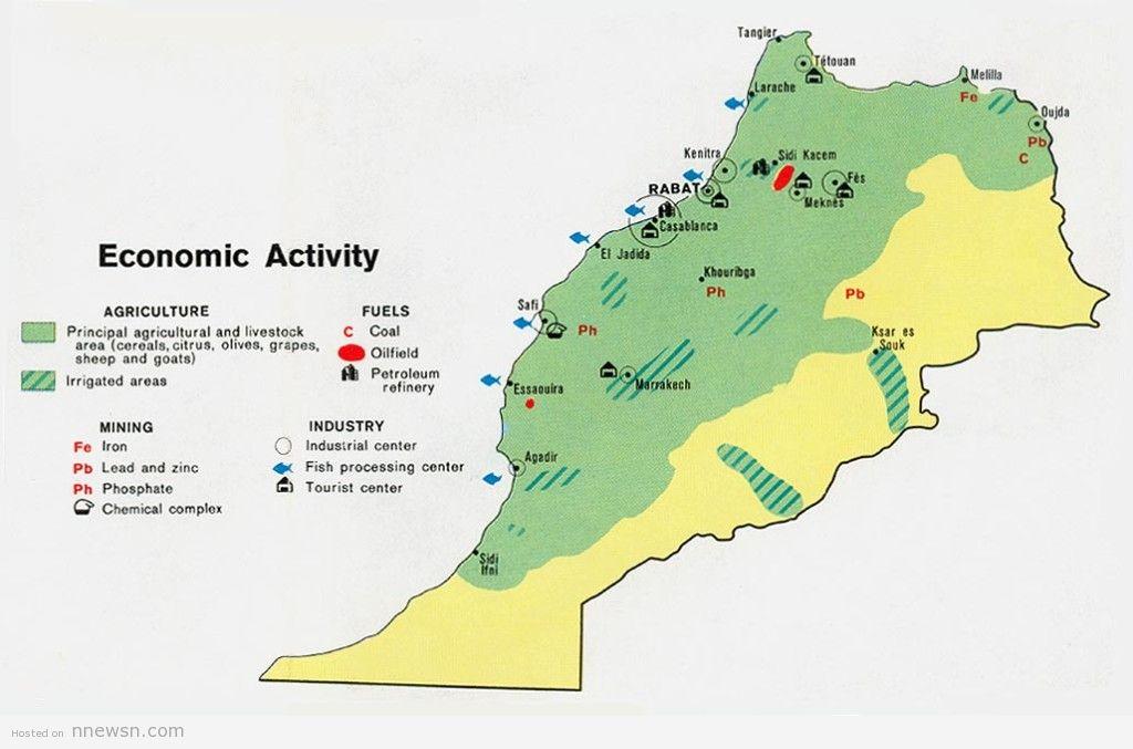 خريطة المغرب الاقتصادية