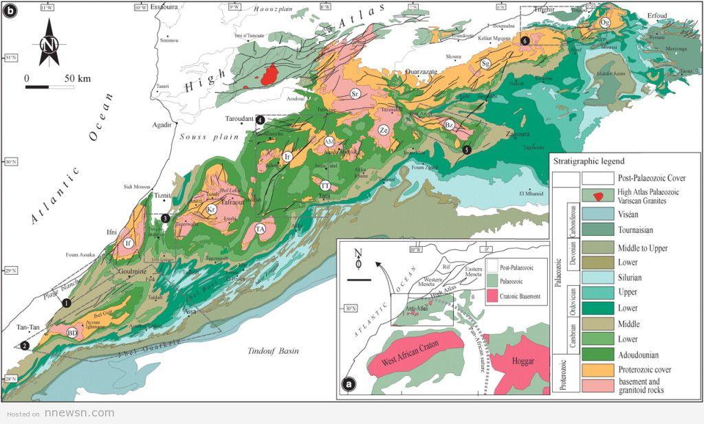 خريطة المغرب الجيولوجية