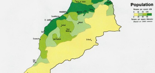 خريطة المغرب السكانية