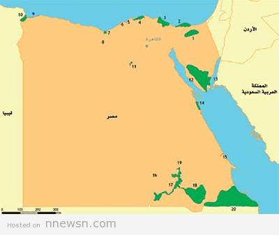 خريطة النبات مصر