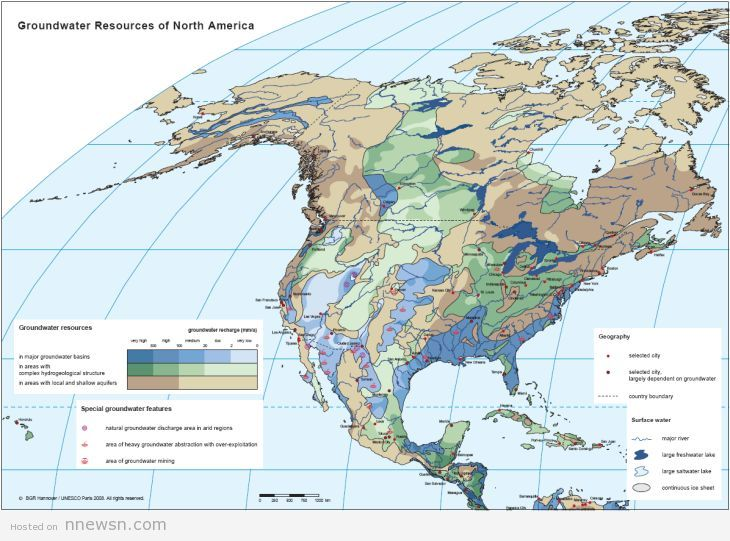 خريطة امريكا الجنوبية الهيدروليجية