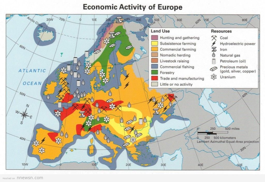 خريطة اوروبا الاقتصادية
