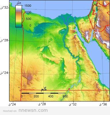 خريطة طبوغرافية مصر