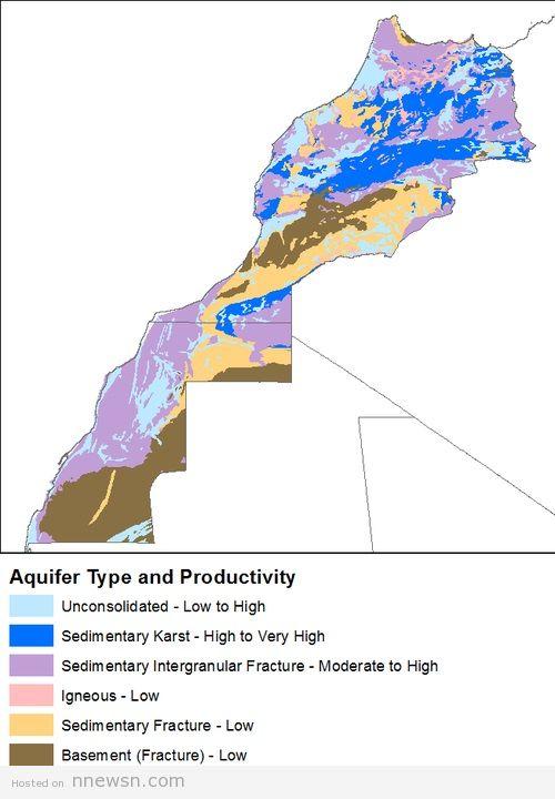 خريطة هيدرولوجية للمغرب