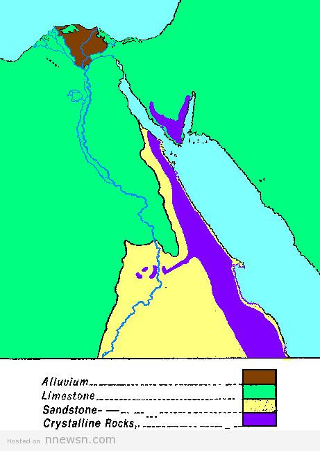 خريطة هيدرولوجية مصر