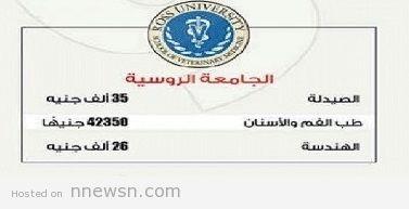 الروسية المصروفات الدراسية لكليات جامعة المصرية الروسية 2017/2019